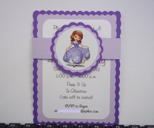 Sofia the First Invitations Template Sofia The First Birthday