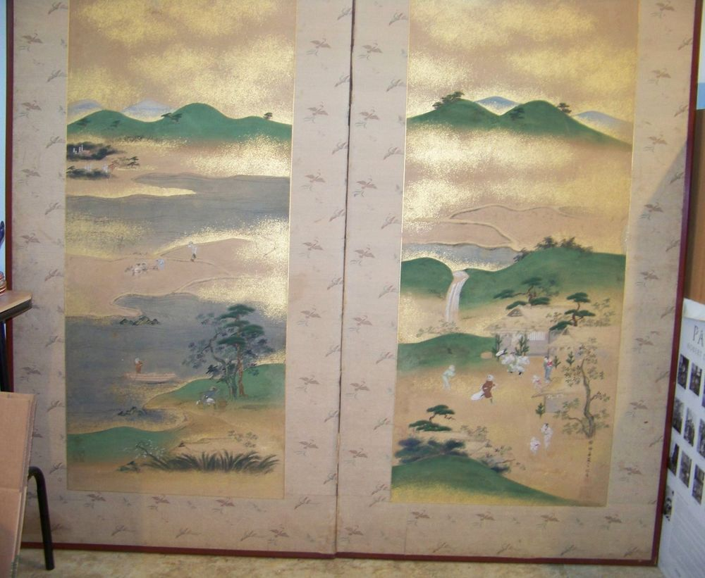 Antique japanese screens for sale - Antique Japanese Byobu Screen Muromachi Period 1392 1568