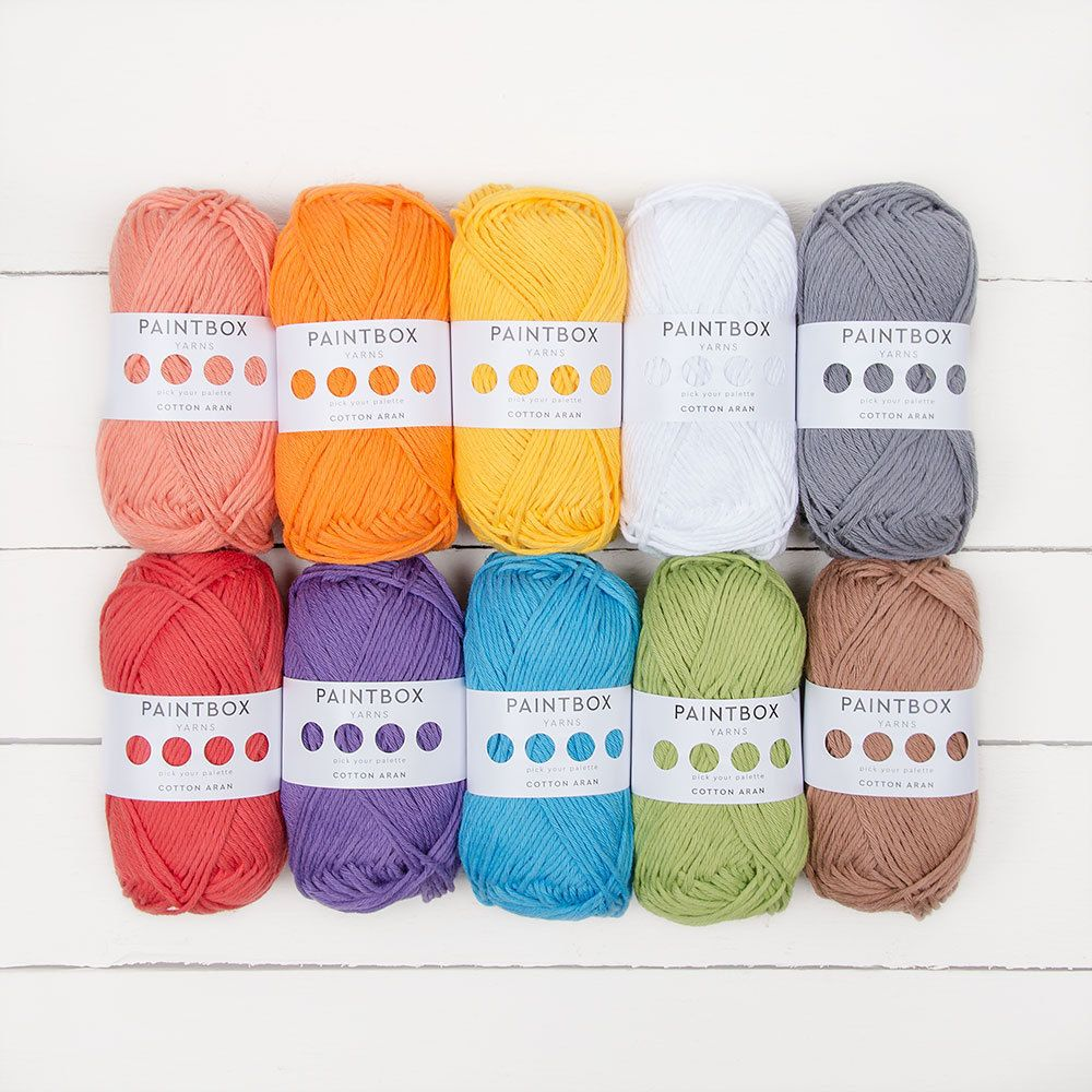 Paintbox Yarns Cotton Aran 10 Ball Colour Pack | Blankets | Paintbox