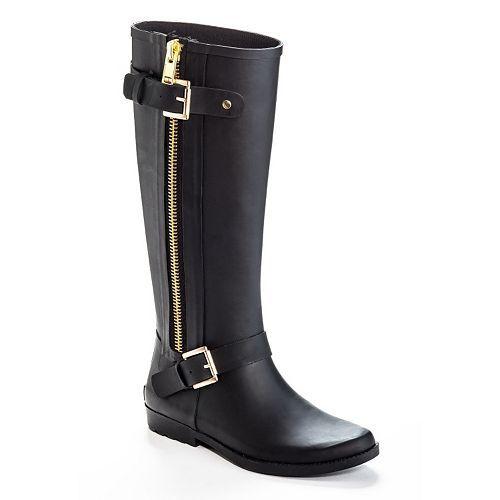Henry Ferrera Bond Women's Water-Resistant Zipper Rain Boots, Size ...