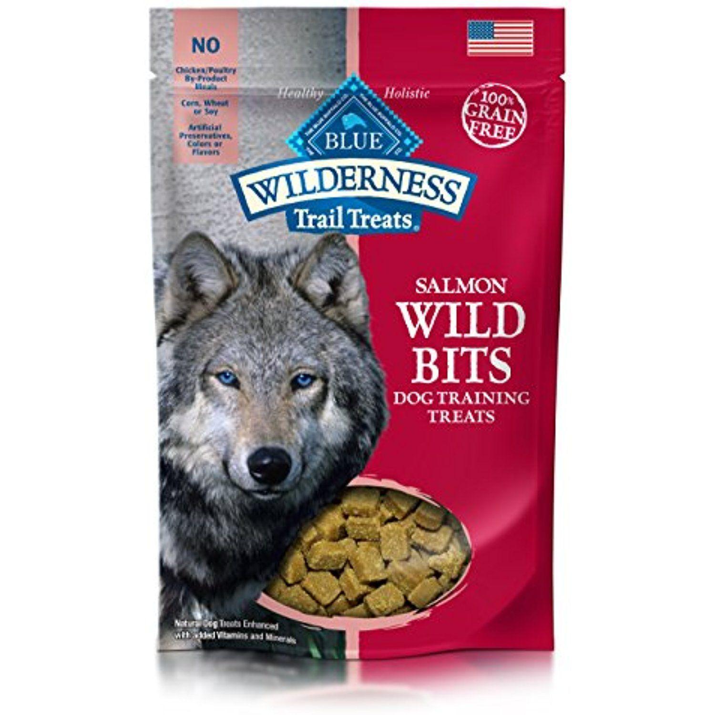Blue Wilderness Trail Treats Grain Free Wild Bits Salmon Recipe Dog Treats 4 Oz You Can Read More At The I Dog Training Treats Blue Buffalo Salmon Dog Treats