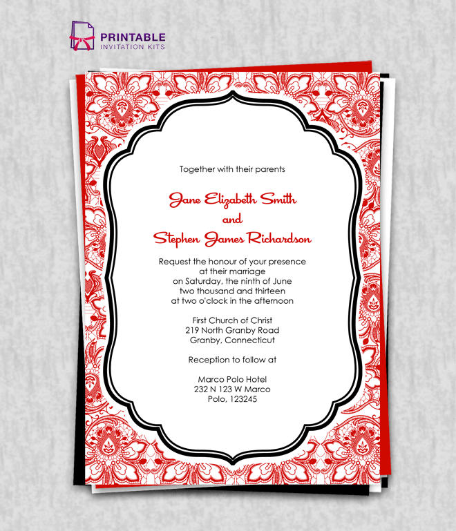 Free Pdf Download Lace Background Vintage Invitation  Easy To