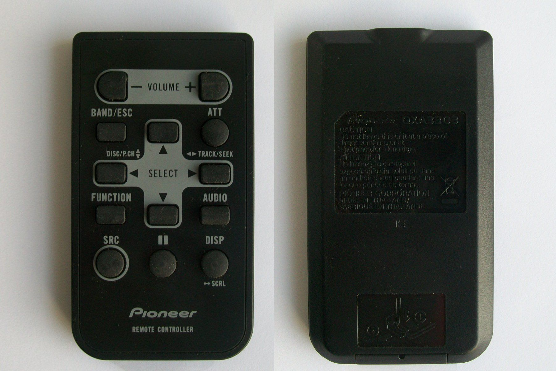 a02d903ef852edaf8717a9afcc4583ed pioneer qxa3303 remote control for car radio receiver cd player Power Acoustik 710 at soozxer.org