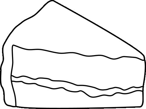 black and white slice of cake