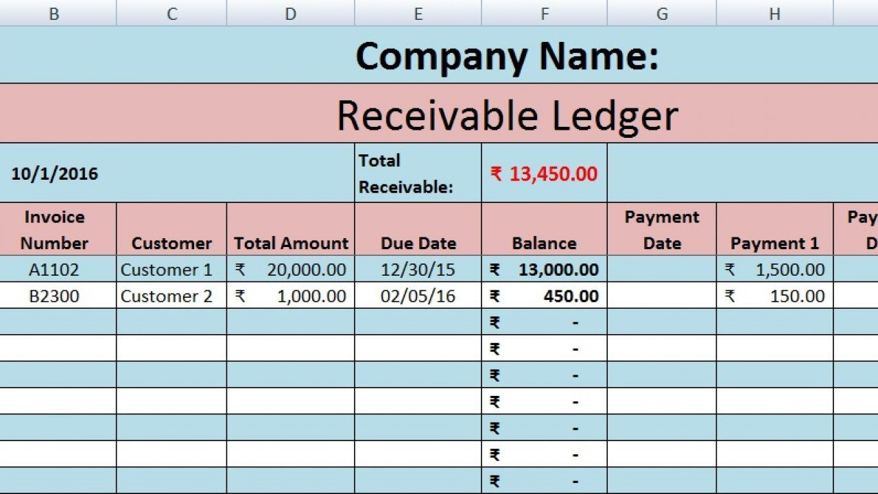 The Marvelous Download Accounts Receivable Excel Template Exceldatapro Inside Accounts Receivable Report Template Digital Imagery Below Is Other Parts Free Accounts receivable ledger excel template