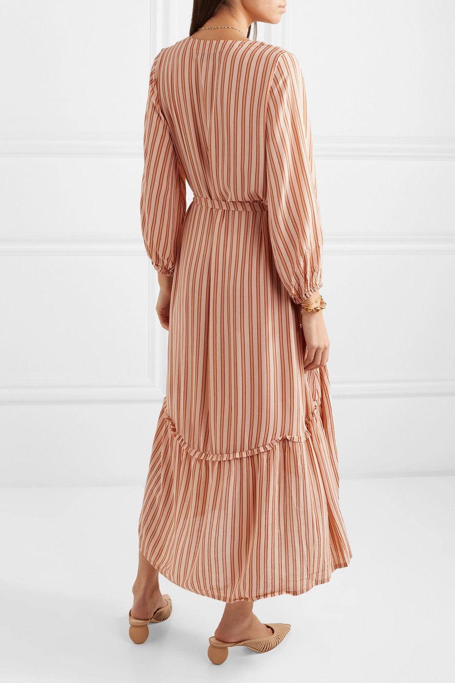 ed9cbfcc088c Faithfull The Brand   Matilda asymmetric striped crepe midi dress    NET-A-PORTER.COM
