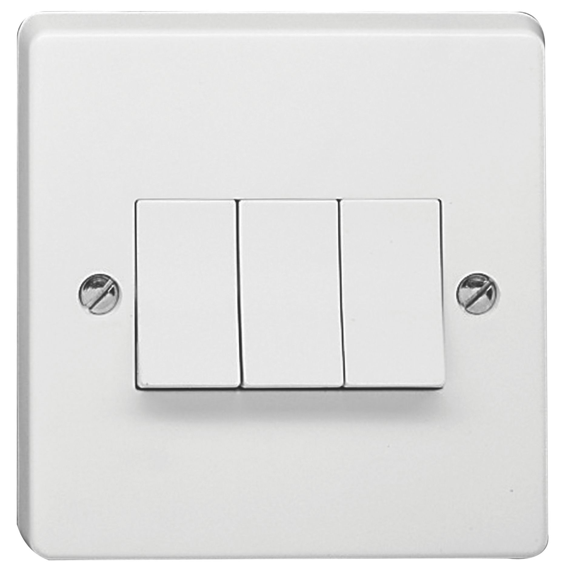 Crabtree 10ax 2 Way White Switch Departments Diy At Bq Front