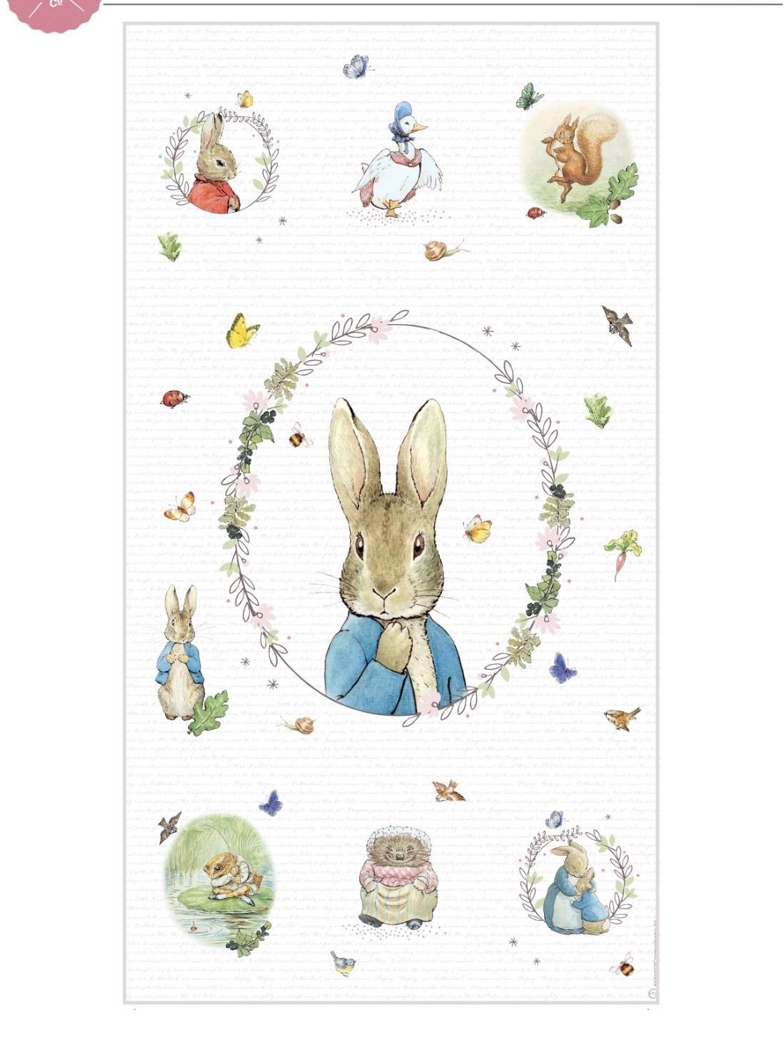 Peter Rabbit nursery decor,baby shower,Easter baby gift. quilt Mrs Bunny,Flopsy,Mopsy and Cottontail Beatrix Potter blanket