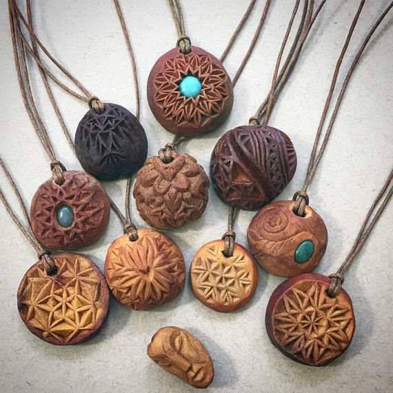 Natural jewelry. Hand carved avocado stone necklace. Heart. #woodcarvingtoo