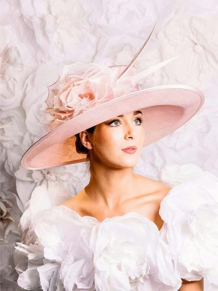 Guibert Pale Pink Upturned Brim Pink Wedding Hats d870c75403c