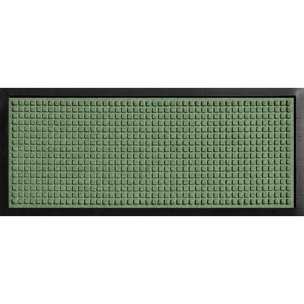 Aqua Shield Boot Tray Squares Light Green 15 in. x 36 in. Door Mat