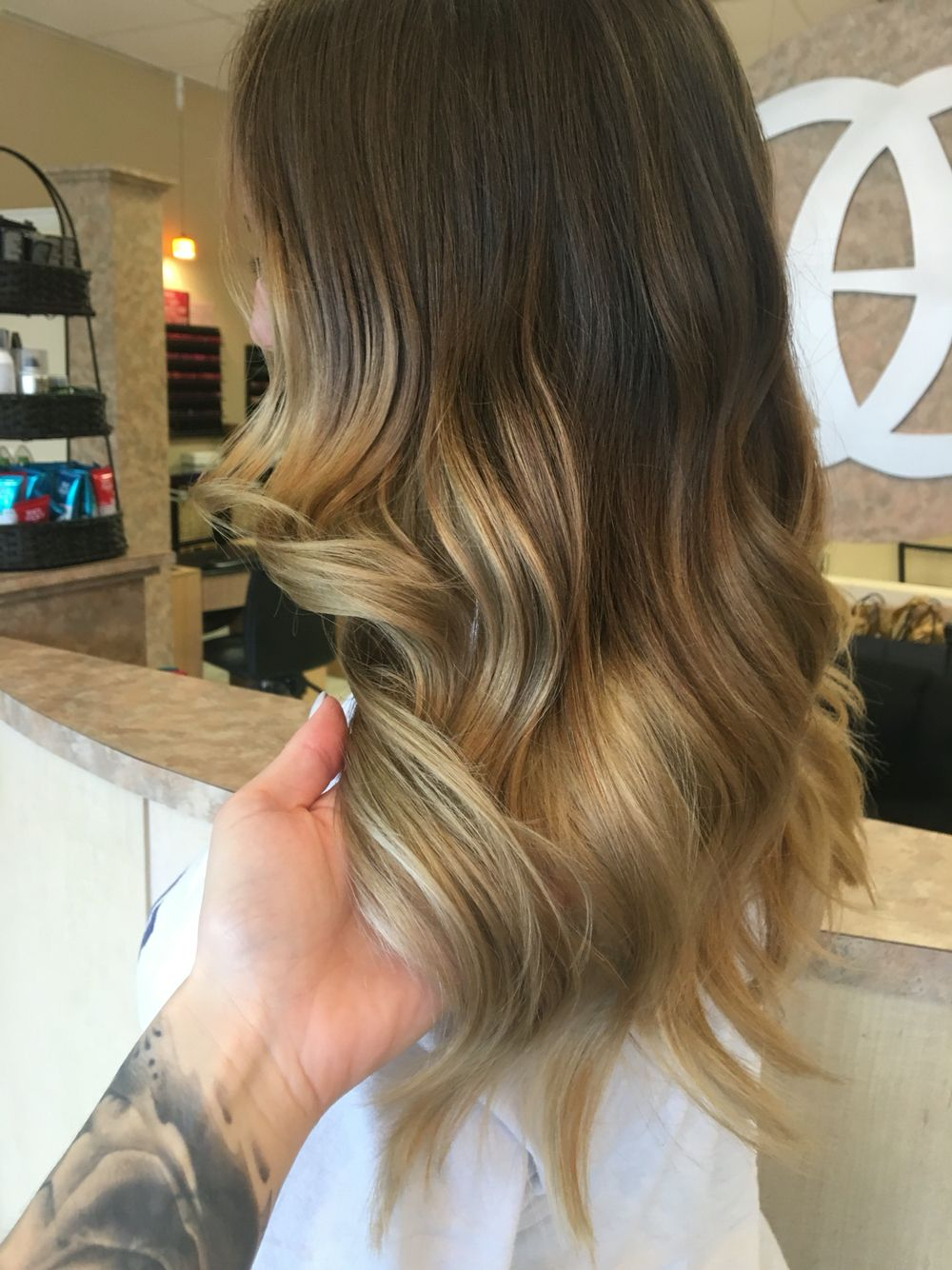 Hair Black with blonde tips ombre pictures catalog photo