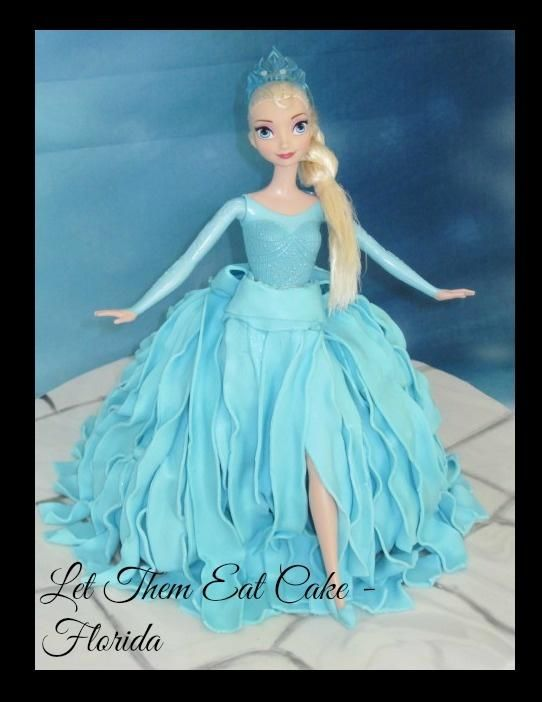 """Elsa doll cake -""""All Things Nice"""" collab by Claire North"""