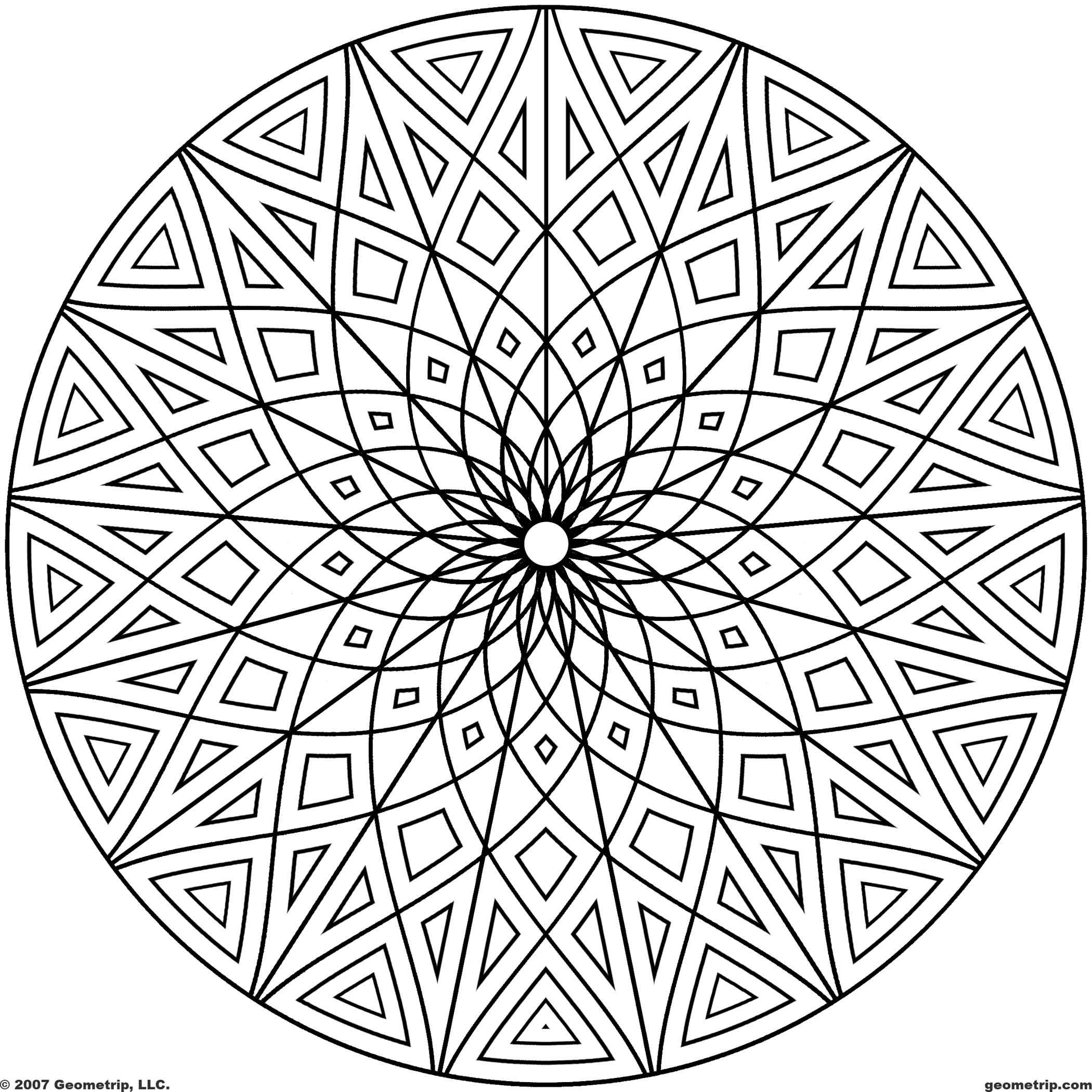 Geometrip Circles Set2 Sym17 Jpg 2 100 2 100 Pixels Geometric Coloring Pages Cool Coloring Pages Mandala Coloring Pages