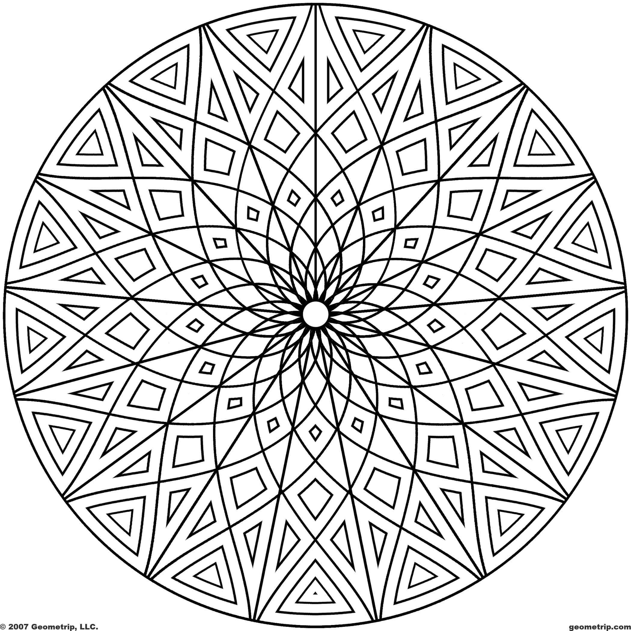 Geometrip Circles Set2 Sym17 Jpg 2 100 2 100 Pixels Geometric Coloring Pages Cool Coloring Pages Mandala Coloring Pages