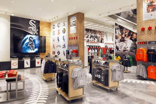 located near us cellular field in chicago this retail store made a grand opening on - Retail Store Design Ideas