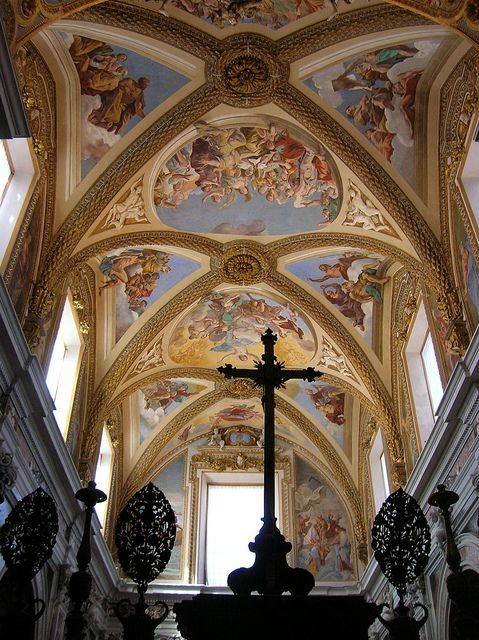 Giovanni Lanfranco Ceiling Of The Church Of San Martino Naples Cathedral Church Church Church Building