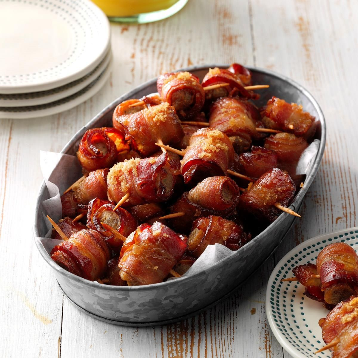 Sausage Bacon Bites #fingerfoods