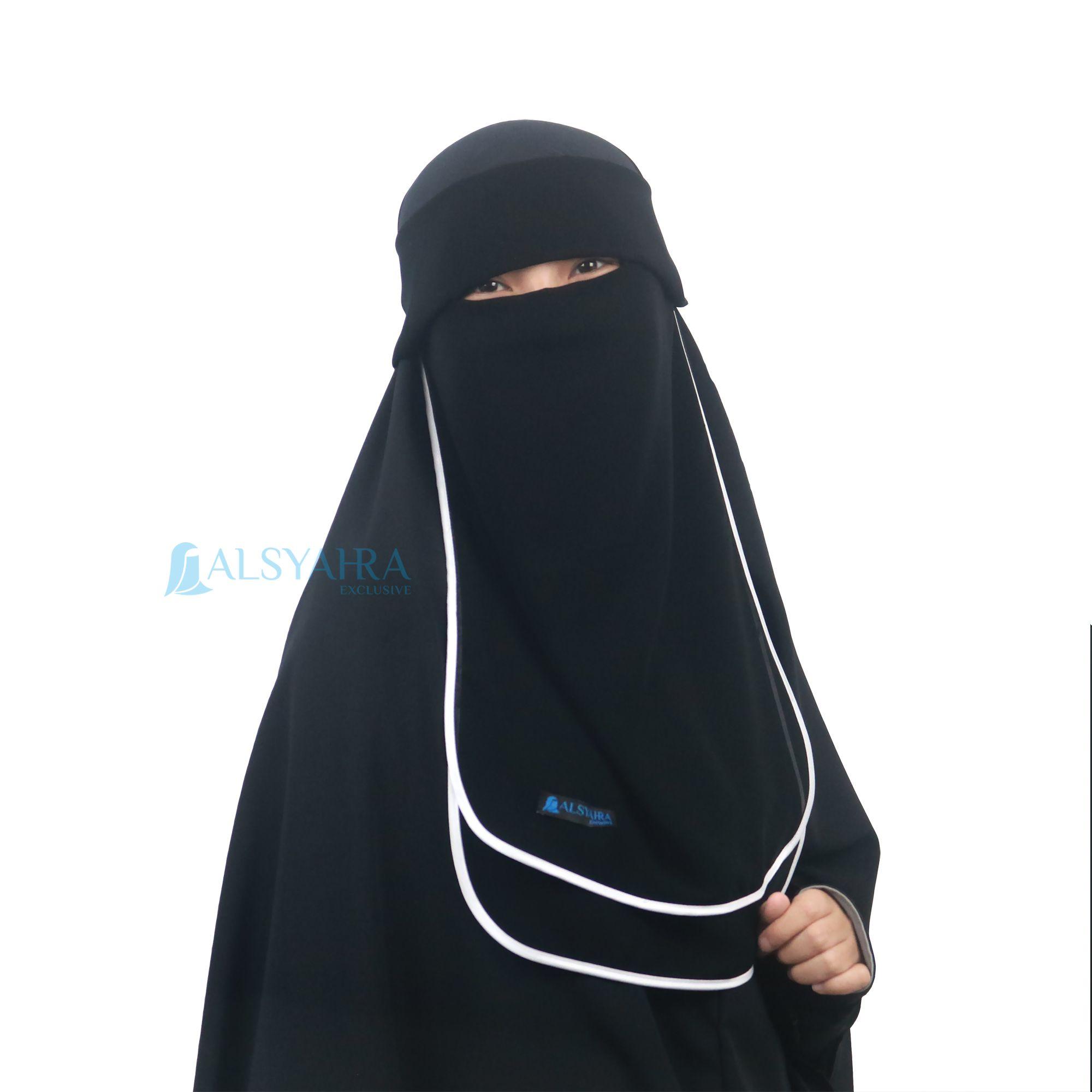Bismillah Niqab Poni Hijrah Sifon berbahan dasar sifon