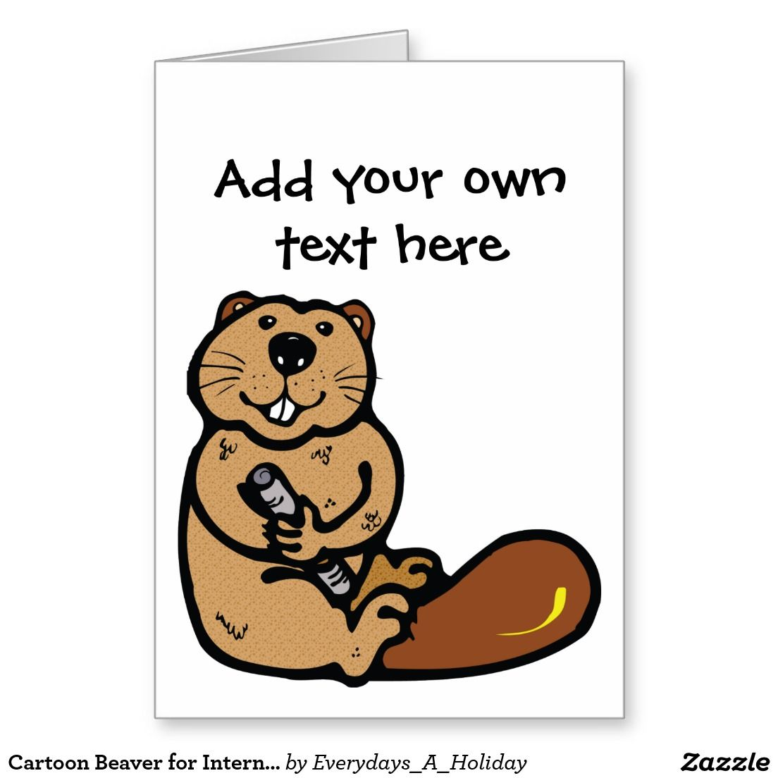Cartoon beaver for international beaver day greeting card zazzle cartoon beaver for international beaver day greeting card kristyandbryce Images