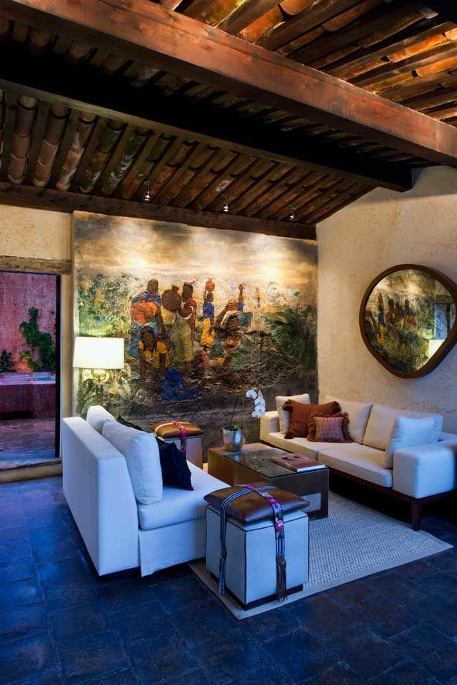 Living room  at Mil Flores Luxury Design Hotel La Antigua Guatemala
