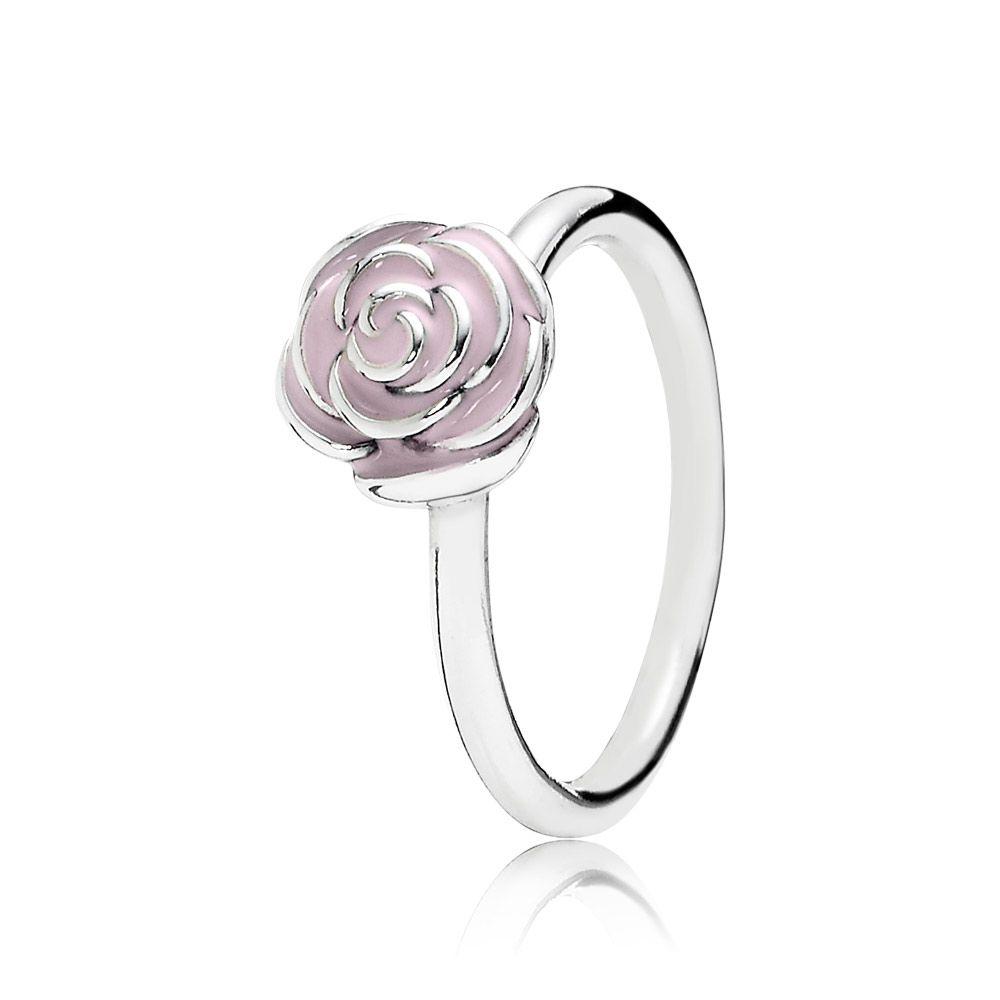 87b2e78be Rose silver ring with pink enamel. Cheap PandoraPandora .