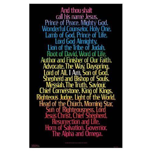 I Am Poster 21 X 32 9789901981137 God4me Com Wholesale Christian Books Names Of Jesus Names Of God Wonderful Counselor