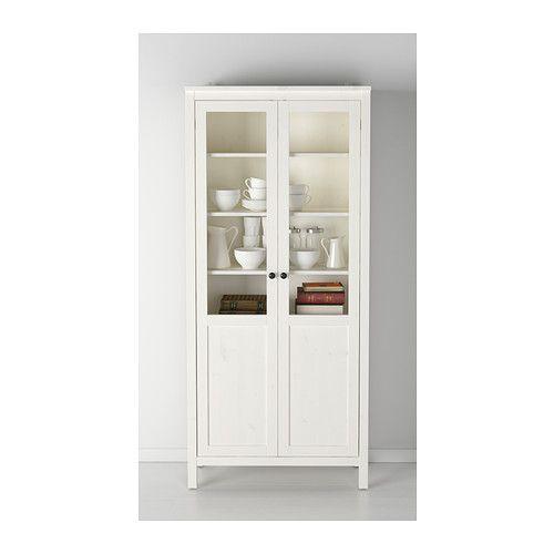 Hemnes armario puerta panel vidrio tinte blanco ikea for Muebles hemnes ikea
