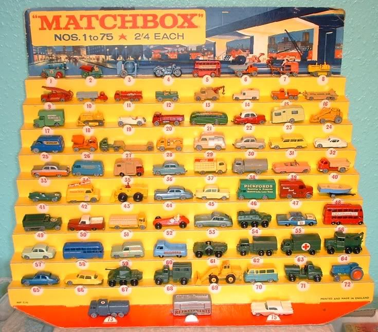 Shop display units by Lesney Matchbox cars, Matchbox