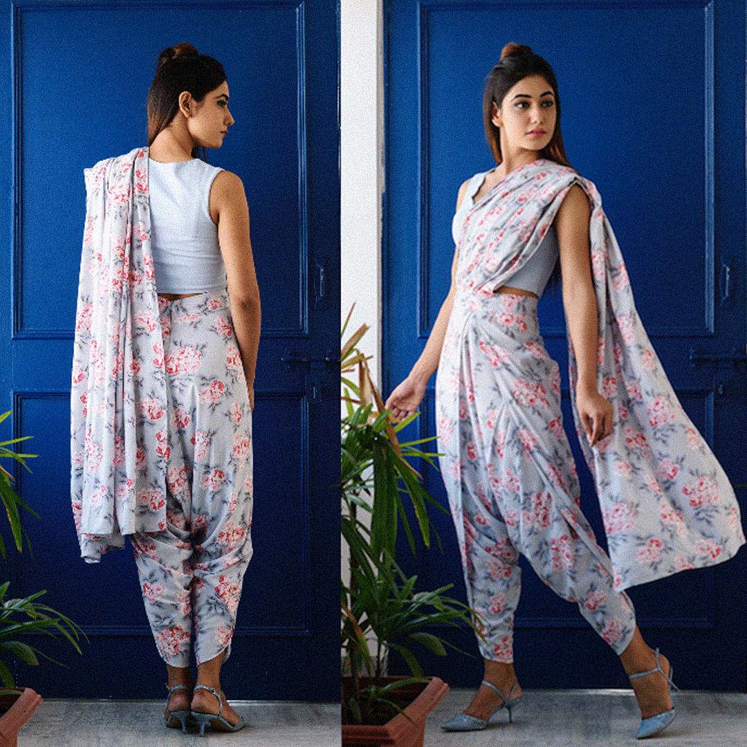 How to dhoti wear saree new photo
