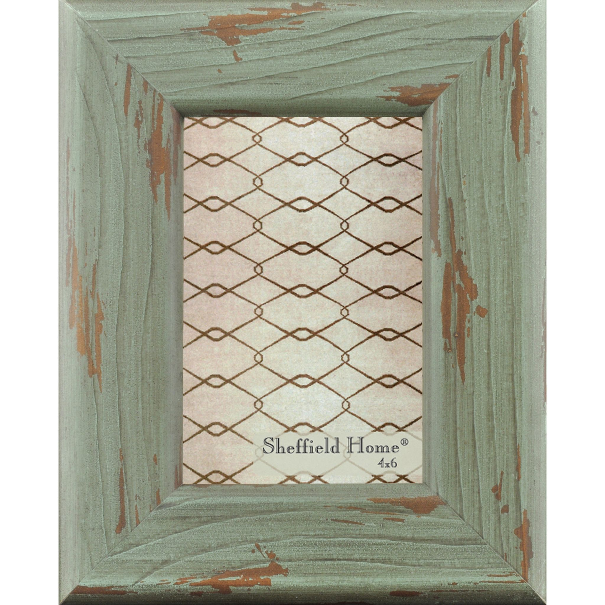 Home Accents Distressed Wooden Farmhouse Picture Frame / Photo Frame ...
