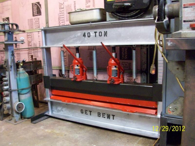 Homebuilt press brake Shop press, Press brake, Metal