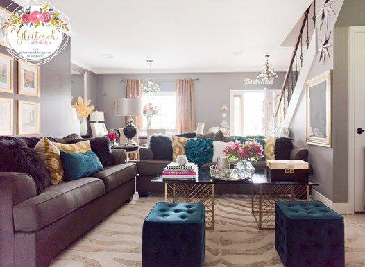 Black Walls Rejoice Living Room Makeover Living rooms, Black