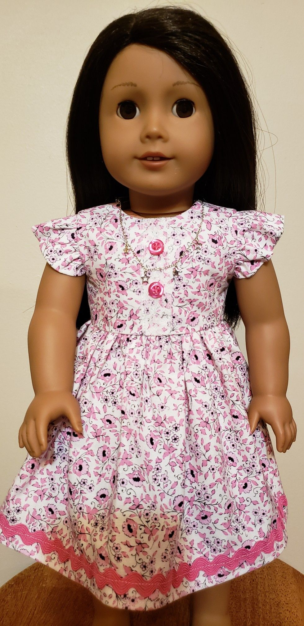 American Girl Ruffle Sleeve Dress For Rosie Doll Clothes American Girl American Girl Doll