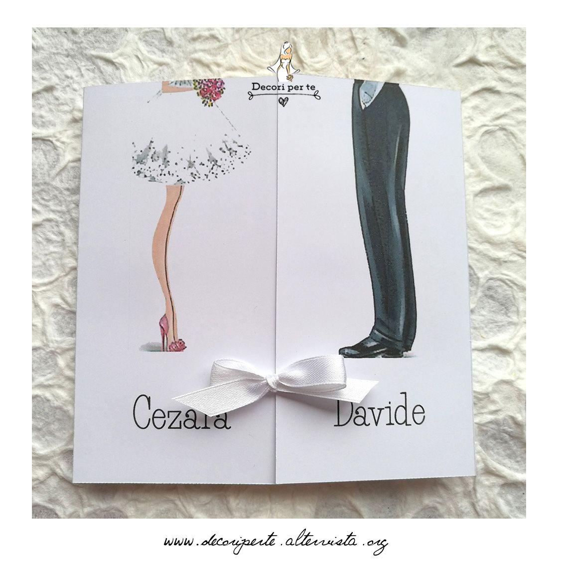 Partecipazioni Matrimonio Disegno Sposa E Sposo Wedding Invitations Bride And Groom Shoes Auguri Di Nozze Matrimonio Nozze