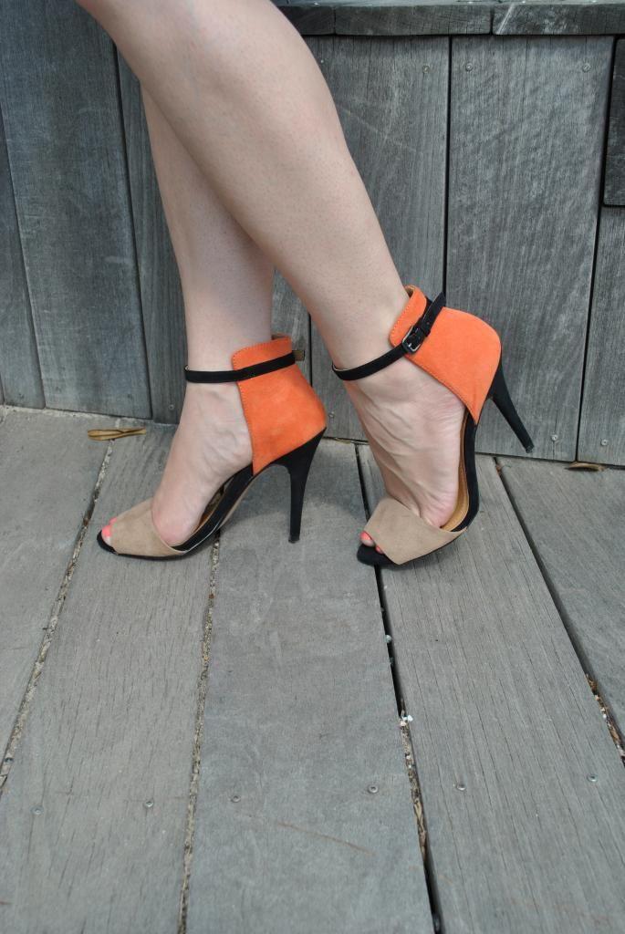 Zara color blocked heels