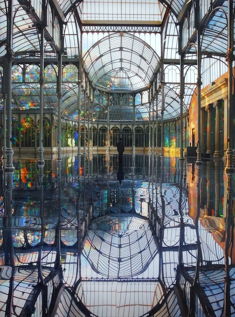 A Reflective Palace of Rainbows by Kimsooja @ Palais de cristal of Museo nacional Centro de Arte Reina Sofia, Madrid | Architecture, Madrid, Architecture moderne