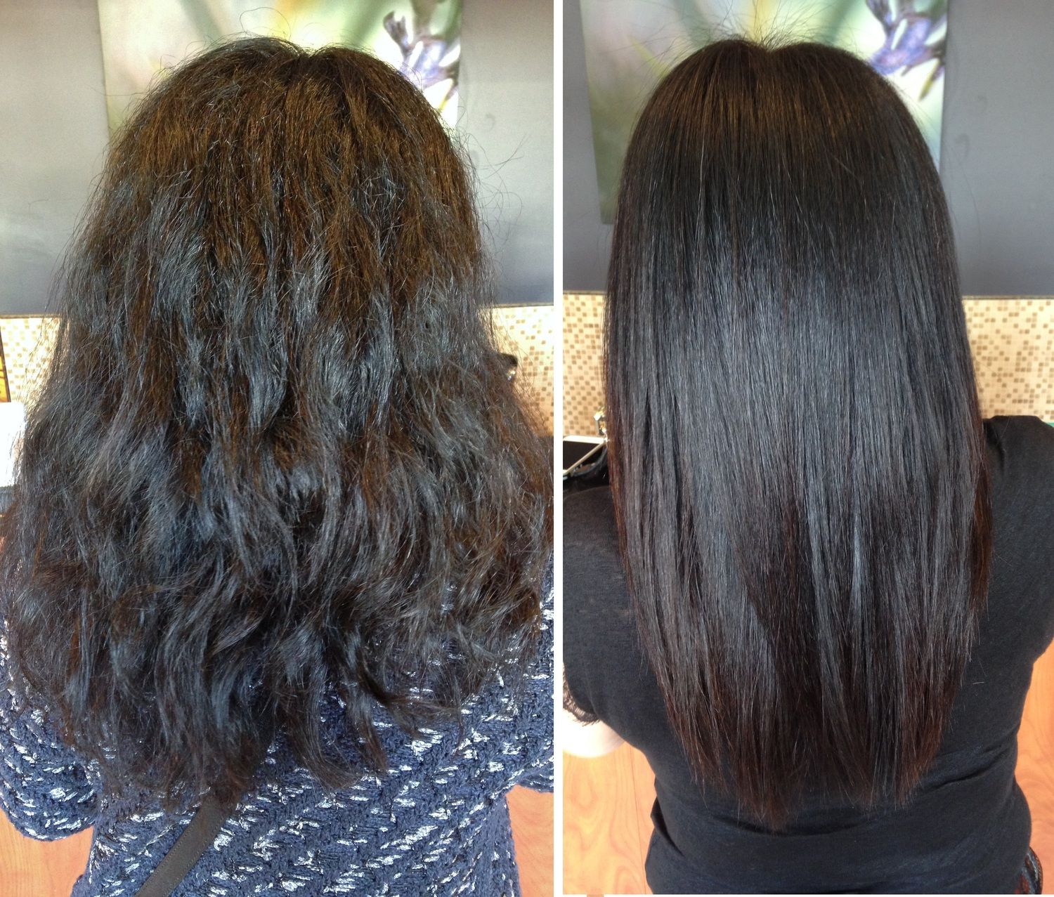 Keratin before after our work only at salon belladonna pinterest keratin relaxer and - Salon straightening treatments ...