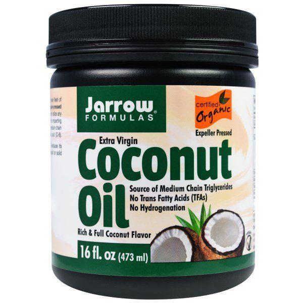Jarrow Formulas Extra Virgin Coconut Oil 16 Fl Oz 473 G Organic Extra Virgin Coconut Oil Healthy Cooking Oils Coconut Oil