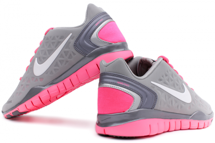 NIKE Free TR Fit 2 Women 487789 003 Metallic Silver  White  Pink Flash