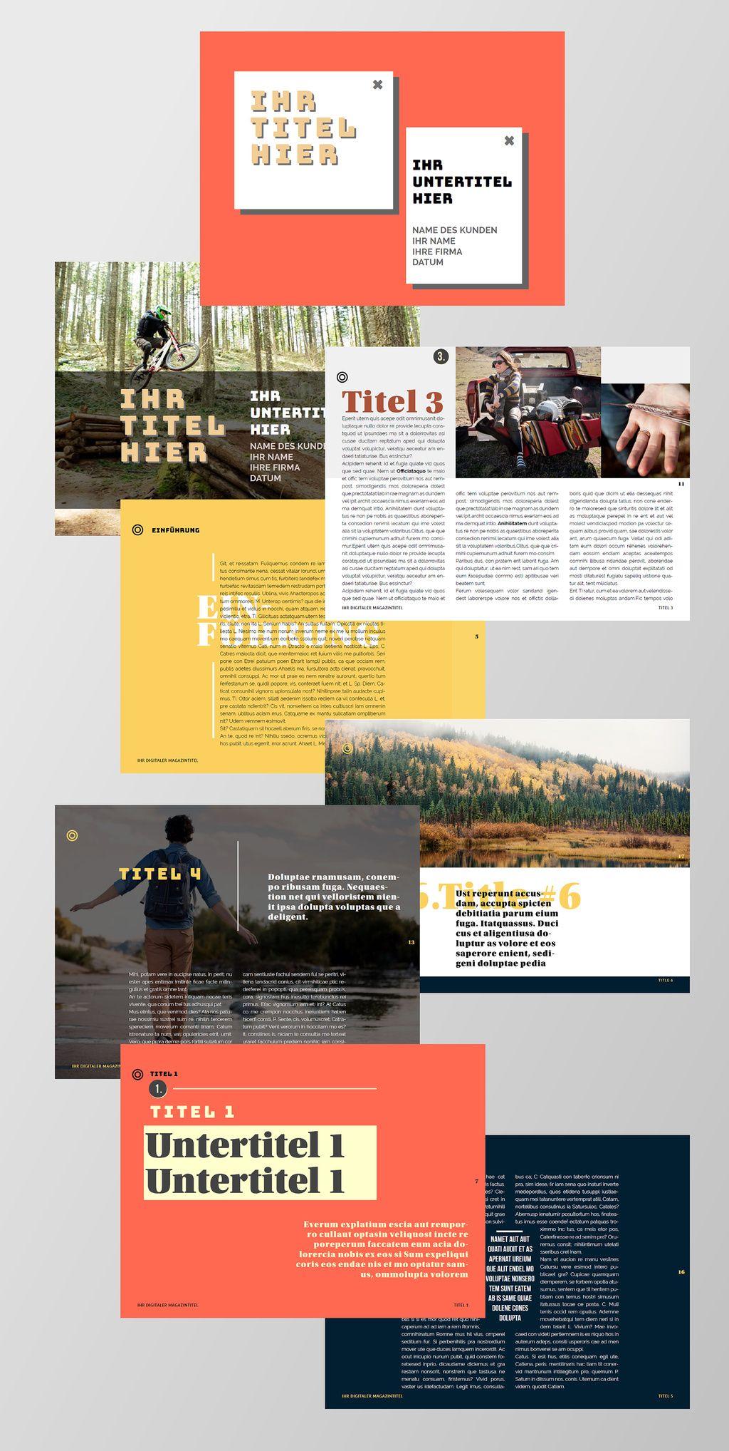 Layout Fur Digitale Erlebniszeitschrift Buy This Stock Template And Explore Similar Templates At Adobe Stock Ado Indesign Vorlagen Indesign Vorlage Vorlagen