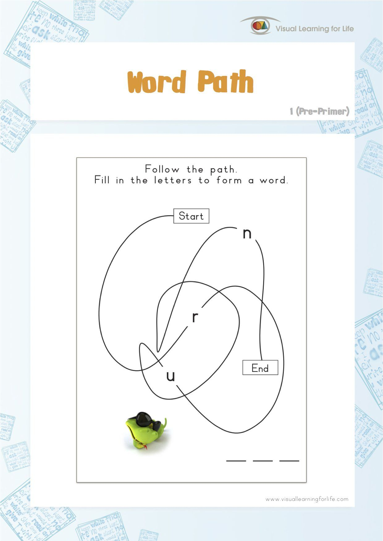 In The Word Path Worksheets The Student Must Follow The