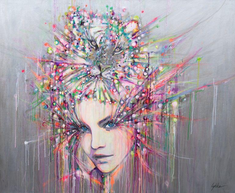 "Lykke Steenbach Josephsen; Acrylic Painting ""Courage"""