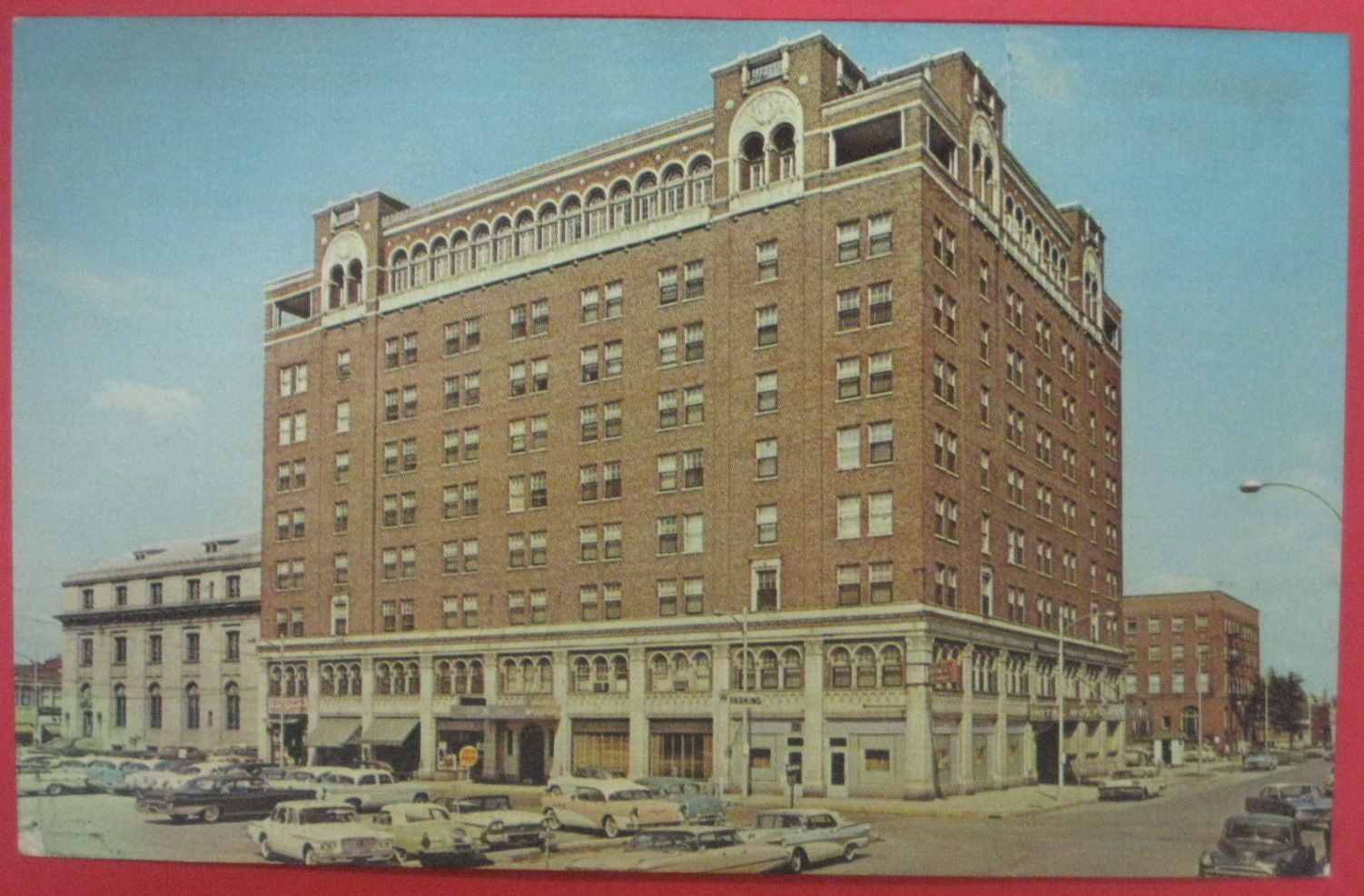 Danville Il Hotel Wolford Vintage Uncirculated Postcard Advertising Year