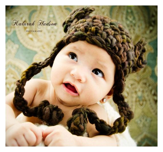Ursa Minor Earflap Hat CROCHET Pattern by whiletheyplay on Etsy, $3.50