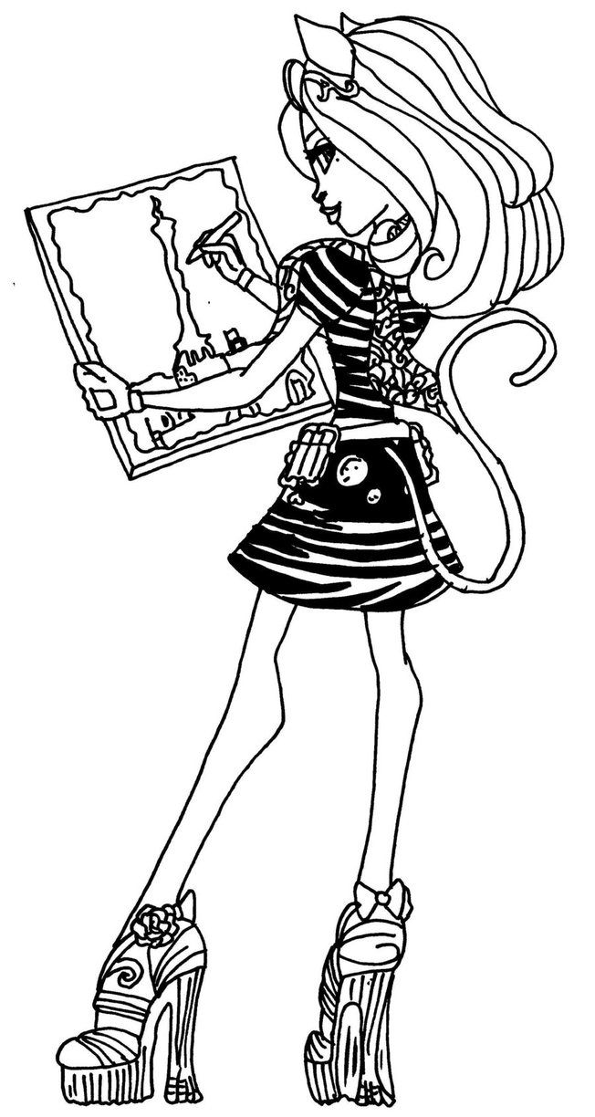 catherine demew monster high coloring page coloring pages of