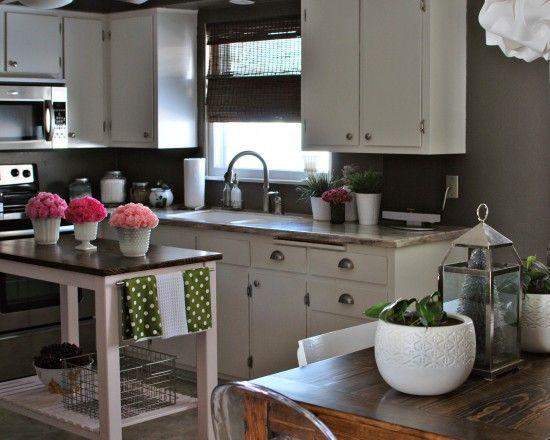 small kitchen decor Decor Lookbook Pinterest Island table
