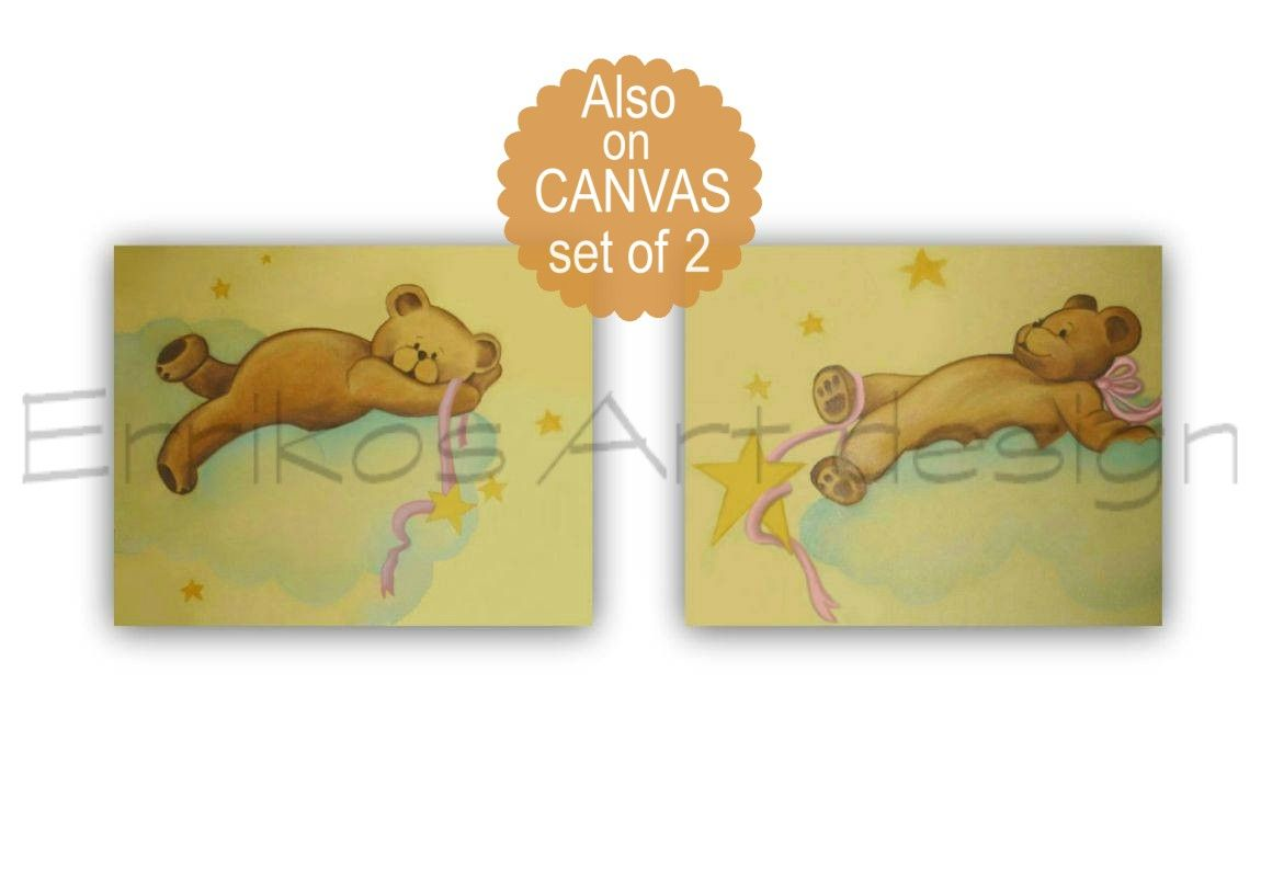Bears Nursery Decor, Teddy Bears Wall Art, Baby Nursery Art, Bears ...
