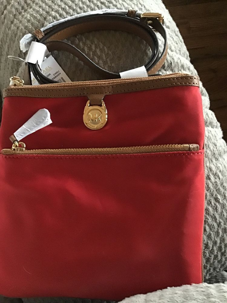 562f342d9eecc9 Michael Kors Kempton Chili Small Pocket Crossbody Bag Handbag Purse NWT  #fashion #clothing #shoes #accessories #womensbagshandbags (ebay link)