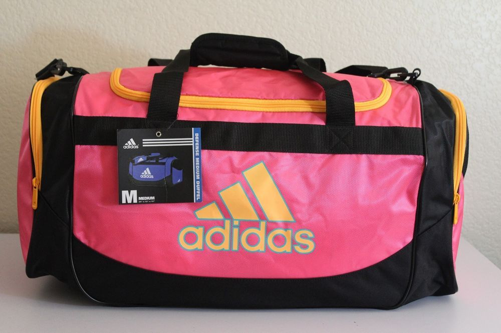 6fd8d1623e Adidas Defense Medium Duffel women gym bag Pink  Orange 24